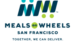 The Meals on Wheels San Francisco Logo with their tagline, together we can deliver
